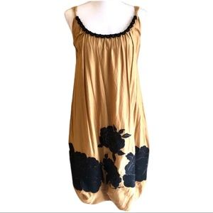 NWT Tibi Floral Embroidered Mustard Bubble Dress